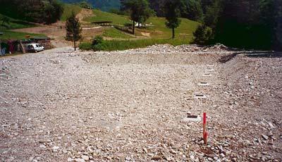 Le traitement : Lit d'épandage. 100 % infiltration dans les sols, 0 % rejet dans les ruisseaux.