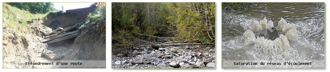 Exemples de quelques sinistres suite à une mauvaise gestion des Eaux Pluviales